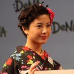 【フォトレポート】吉高由里子さんの着物姿がまぶしかった、ディー・エヌ・エー新ロゴ発表会の画像