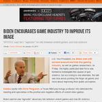 米国ジョー・バイデン副大統領の希望は「業界側からの、ゲームの社会的イメージ向上」