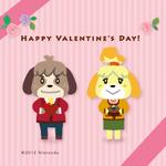 『とびだせ どうぶつの森』秘書しずえが描いたバレンタインカードが可愛い