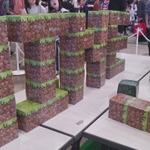 【ニコニコ超会議2】生のブロックで遊べる「超リアルマインクラフト」コーナーの画像
