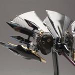 『斑鳩』の2P機「飛鉄塊 銀鶏[黒]」が1/144スケールキットに