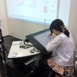 【京まふ2013】『ブレイブリーデフォルト』衣装デザインの藤ちょこさん、水彩画の弘司さんによるライブペインティングが行われる