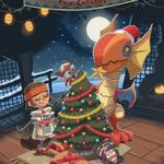 サンタ帽のイャンクックがキュート!英国カプコン、カプコンテーマのクリスマスカードをデザインするデザインコンペを実施