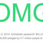 「Kickstarter」2014年3月3日に投資約束総額10億ドルを突破―日本は世界8位の投資額