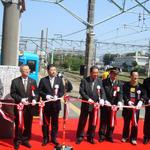 銚子電鉄で「桃太郎電鉄」ラッピング電車が出発進行!