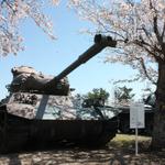 陸上自衛隊土浦駐屯地で戦車と一緒にお花見をしてきた
