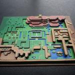 レトロゲームの画面を紙で3D化したファンメイドのジオラマ