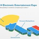 E3 2014のフロアマップが公開 ― 西ホールには任天堂、ソニー、MSの巨大ブースが並ぶ