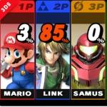 『スマブラ』は名前システムを継続し、3DS版では特定のファイターをマーキングすることも