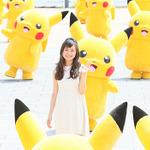 ピカチュウ50匹が横浜港に大集合!ディアンシー役・松本まりかも大興奮