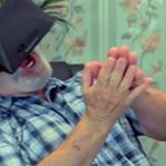 お爺ちゃん達がOculus Riftにトライ!内容はVRジェットコースター