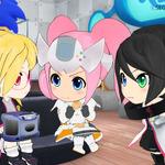 【京まふ2014】TVアニメ「Hi☆sCoool! セハガール」ブースではセガ歴代ハードの実機が出展、名作ソフトの体験プレイも