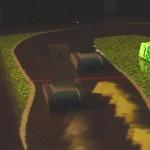 プロジェクションマッピングと「走るiPhone」で、レースゲームのサーキットを自室で再現!バナナを置くことも