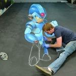 ロックマンのチョークアートが登場!ロックバスターまで再現された、その過程を映像で