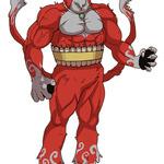 謎の赤い妖怪の画像