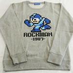 8ビットの「ロックマン」がプリントされたトレーナーが12月17日より発売!