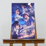 """『艦これ』改二の""""妙高型""""四姉妹を描いたグラフィックアートが予約開始、300枚の限定生産の画像"""