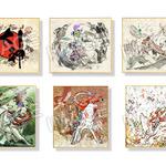 大神 ミニ色紙6枚セット(紙台座付き)の画像