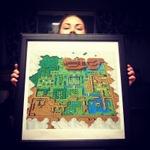 『ゼルダの伝説 神々のトライフォース』のワールドマップを刺繍に!10ヶ月かけて完成