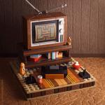 LEGOで「Atari 2600のある80年代ゲーム部屋」を再現