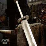 例の鍛冶職人、「ベルセルク」ガッツが鷹の団時代に愛用した大剣を再現