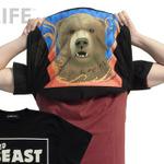 シャツの裾をまくって被れば「変身」完了!GEEK LIFEから『獣王記』パワーアップ!Tシャツが登場