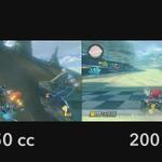 『マリオカート8』新クラス「200cc」と「150cc」の比較動画が公開…時間にして約15秒の差