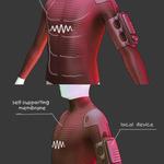 ゲーム世界に触れられる「VRスーツ」が開発中…風圧や着弾の衝撃もの画像