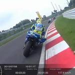 """最新カメラで撮影した""""ライダー視点のバイク動画""""がまるでレースゲーム"""