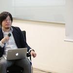 座談会のモデレーターを務めたKLabの孟山嘉起氏の画像
