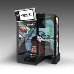 バンナムのスポーツ走行体感マシン「リアルドライブ」お台場に登場 ― 6速シフト&3ペダルと180度ドームスクリーンを搭載