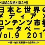「日本と世界のメディア×コンテンツ市場データベース」2015年版刊行、世界16ヵ国をレポート