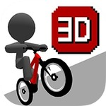 初代『チャリ走』が3Dに進化!スマホ『跳びだせ!チャリ走3D』配信開始