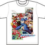 ロックマン Tシャツ クラシックスビジュアル-白の画像