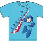 ロックマン Tシャツ メインロゴ-青の画像