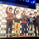 東京・豊洲で3月13日に開催された「第1回 日本eスポーツ選手権大会」決勝のようすの画像