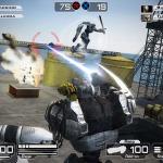 プレイヤーが頭を動かすとゲームの視野が変化−Wii用ロボットアクション『Battle Rage』