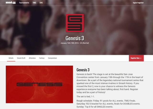任天堂オブアメリカがサポートするGenesis 3