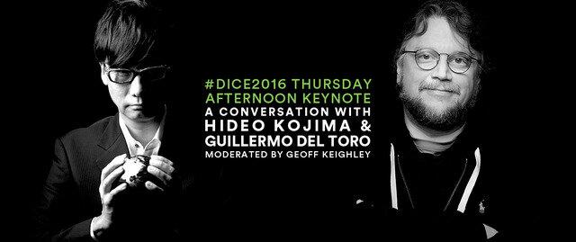 D.I.C.E.サミット2016で小島監督とデル・トロ監督による基調講演が実施